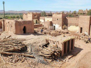 Le chantier du quartier Stara à la casbah de Taourirte, Ouarzazate