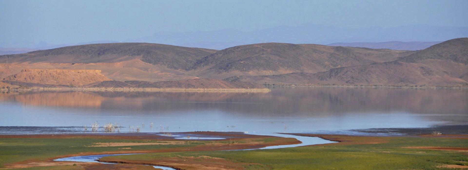 Le lac artificiel Mansour Eddahbi de Ouarzazate