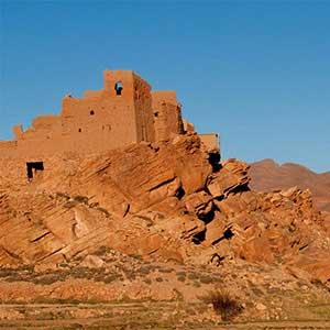 Les ruides de casbah de Tamtatouchte dans les environs de Tinghir