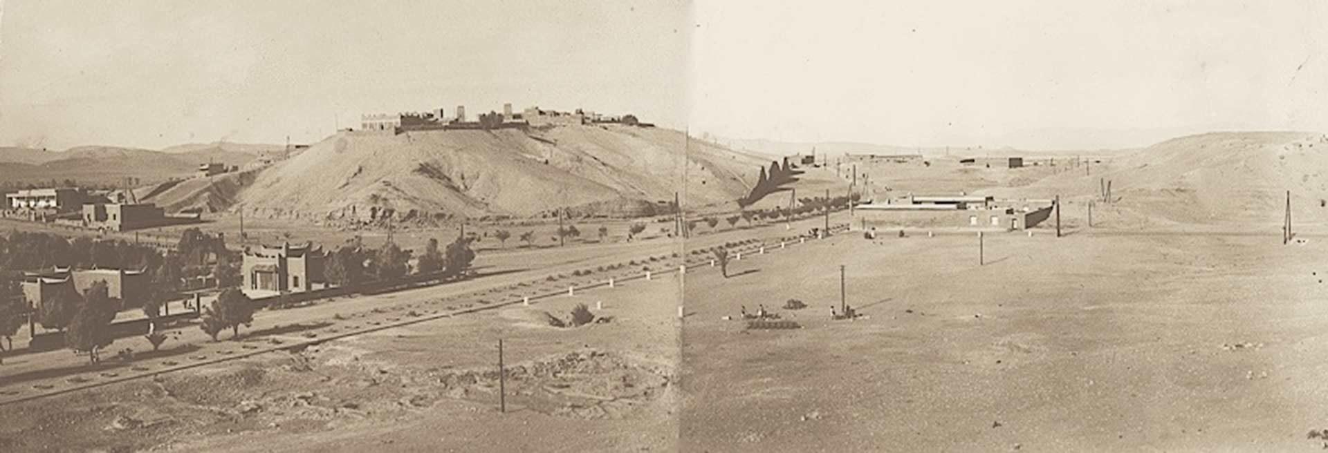 La piste d'autrefois est devenue l'avenue Mohamed V au coeur de Ouarzazate