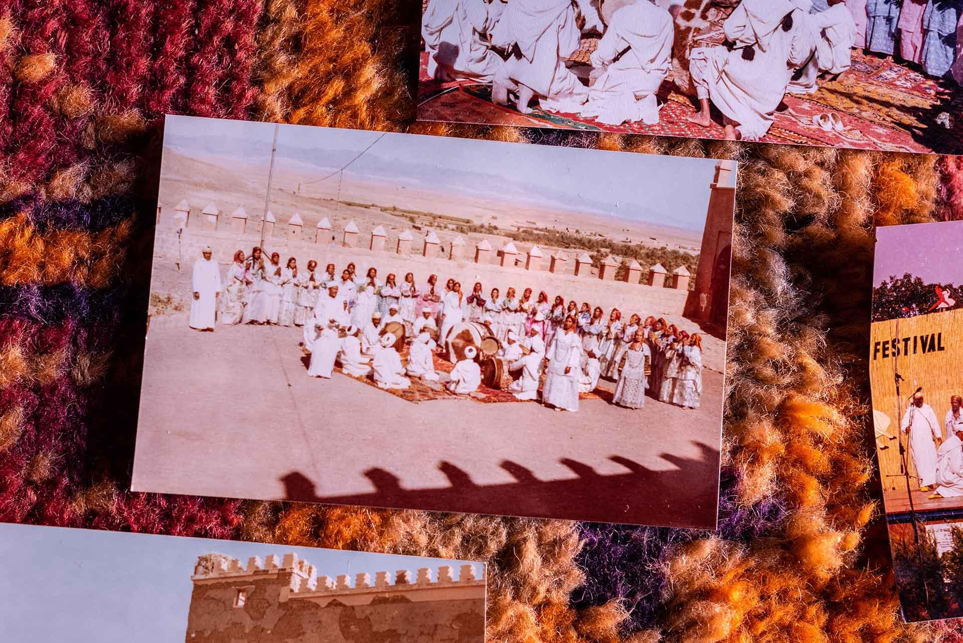 L'emblème de l'art traditionnel Ahwach et leader de la troupe de Ouarzazate