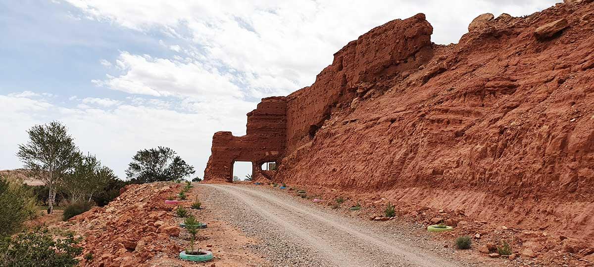 Les ruines de Tasgelt, près d'Ouarzazate, aujourd'hui