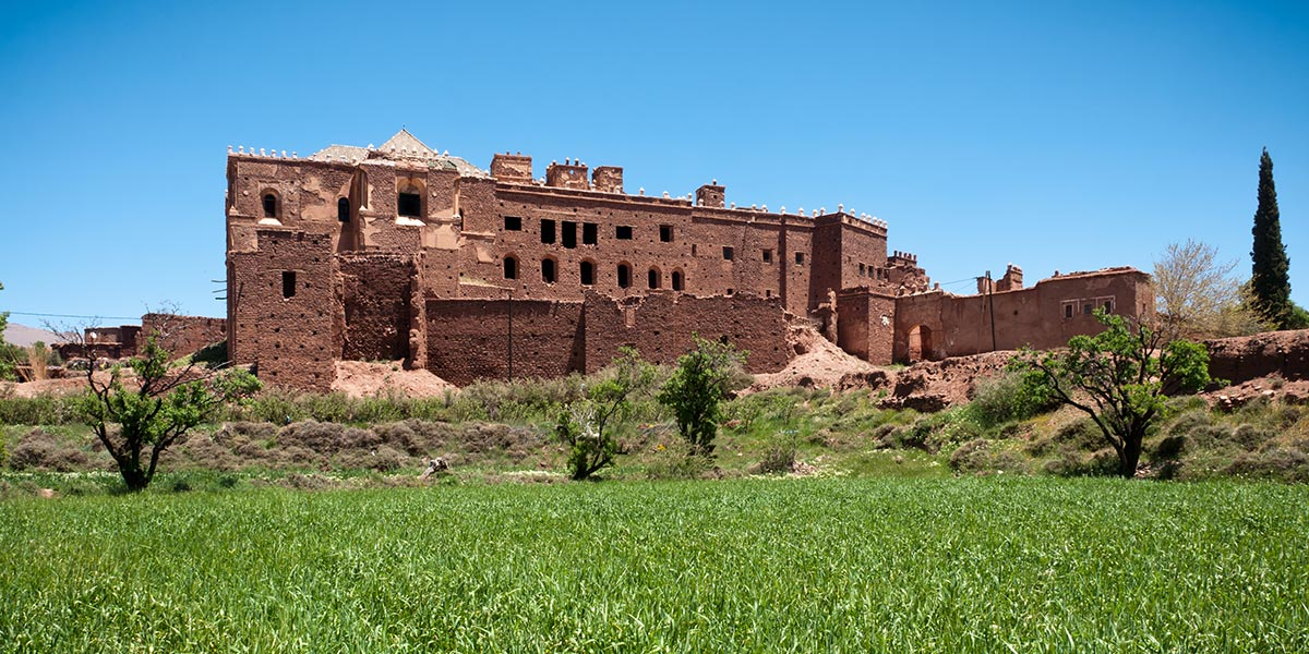 La casbah de Telouet près d'Ouarzazate