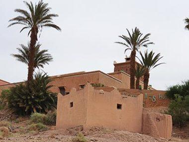 Les vestiges d'un ancien mausolée sous l'hôtel Kenzi Azghor