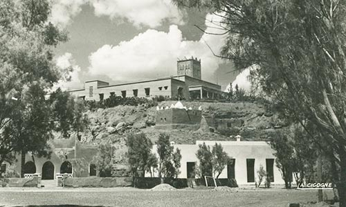 Ancienne photo de l'ancien mausolée sous l'hôtel Kenzi Azghor