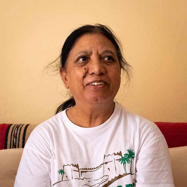 Soeur Rozy à l'église d'Ouarzazate