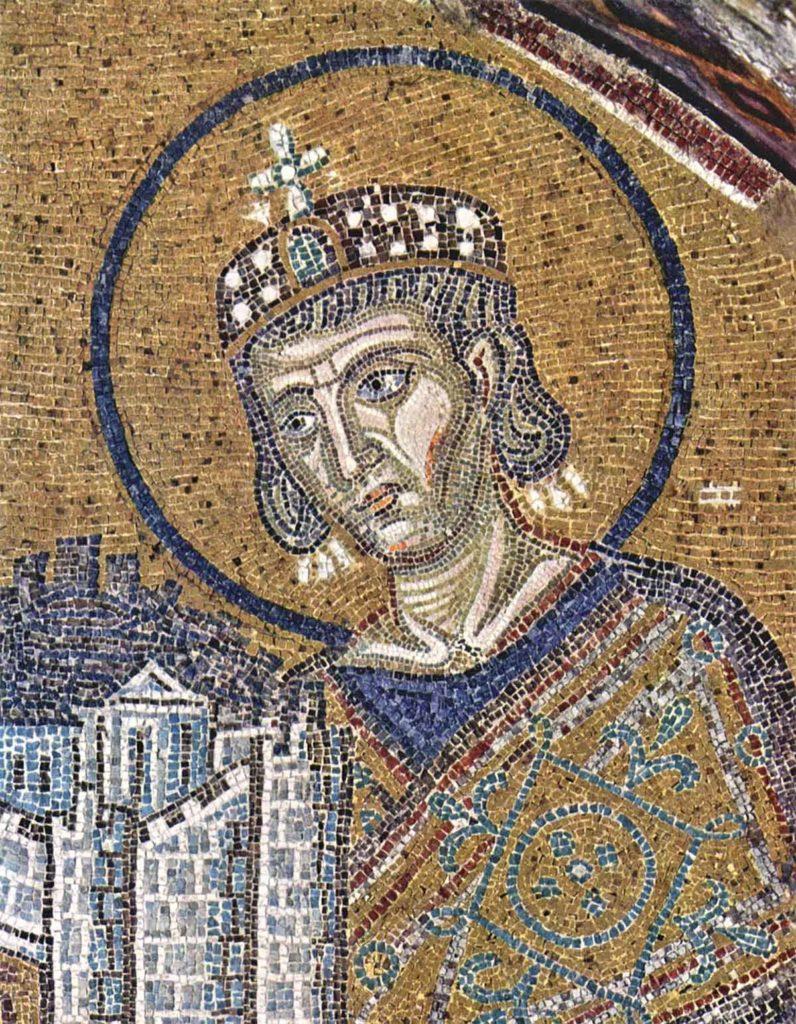 Constantin le Grand  Mosaïques de Sainte - Sophie , Constantinople