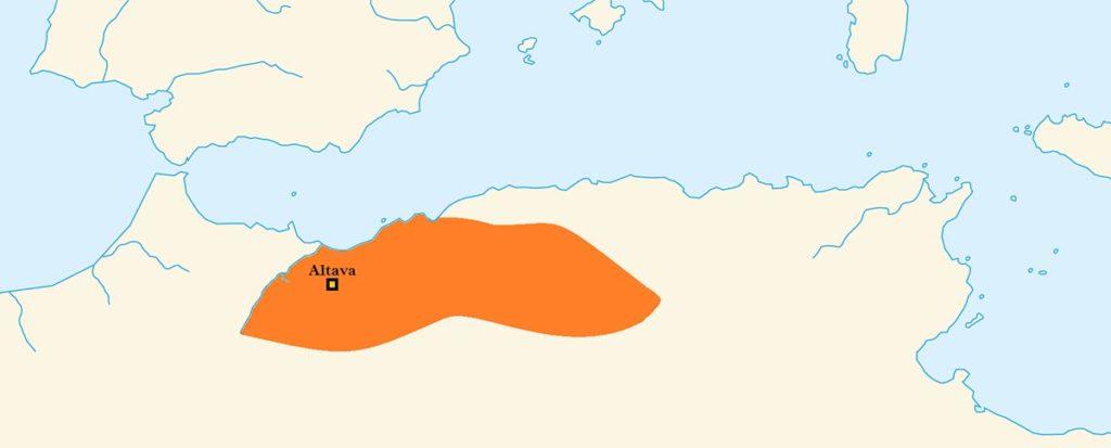 Carte du Royaume d'Altava - Source : Wikipédia