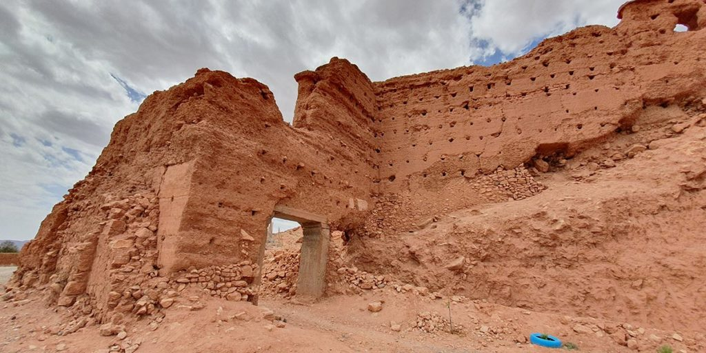 Les ruines de Tasgedlt aujourd'hui à Tadula près d'Ouarzazate - Par Eric Anglade