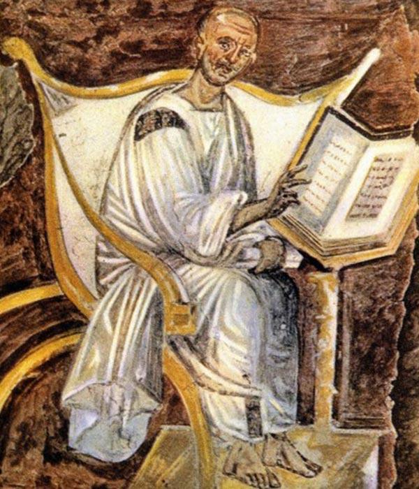 Saint Augustin, VIe s. Fresque, palais du Latran, Rome