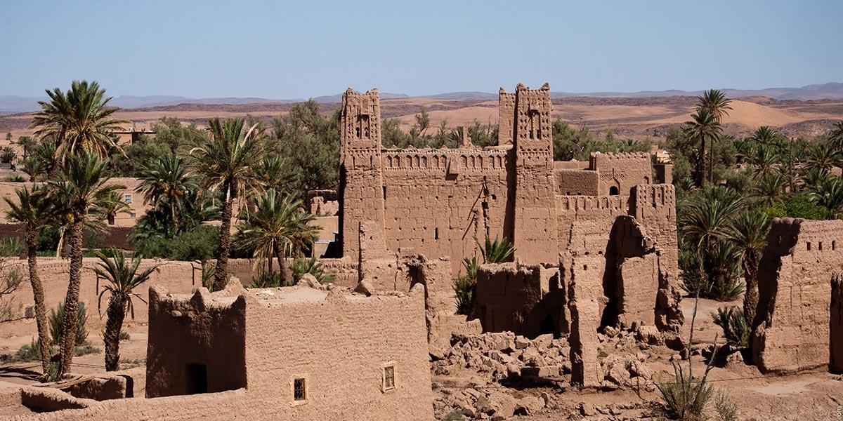 Habitat à l'abandon dans l'oasis de Skoura