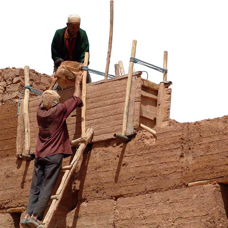 La technique du pisé au Maroc