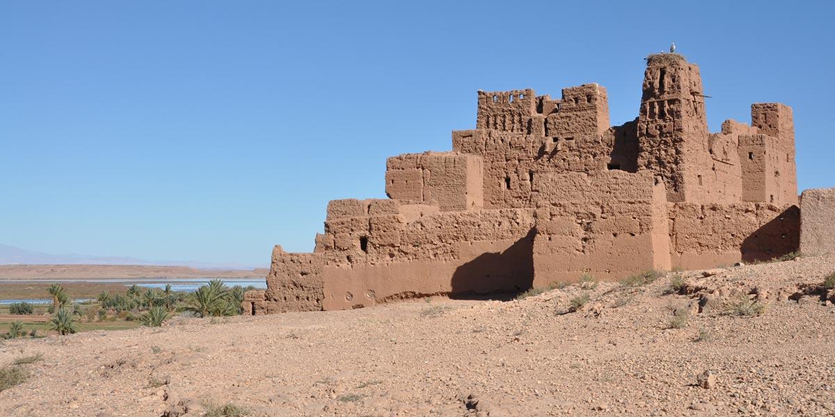 Les ruines de la casbah des cigognes