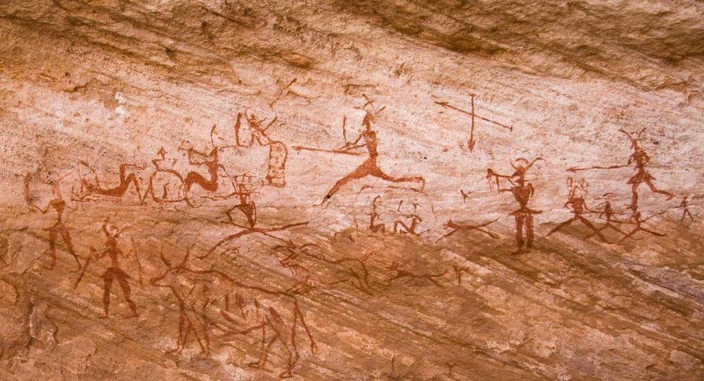 Peintures rupestres du Tadrart Acacus en Lybie