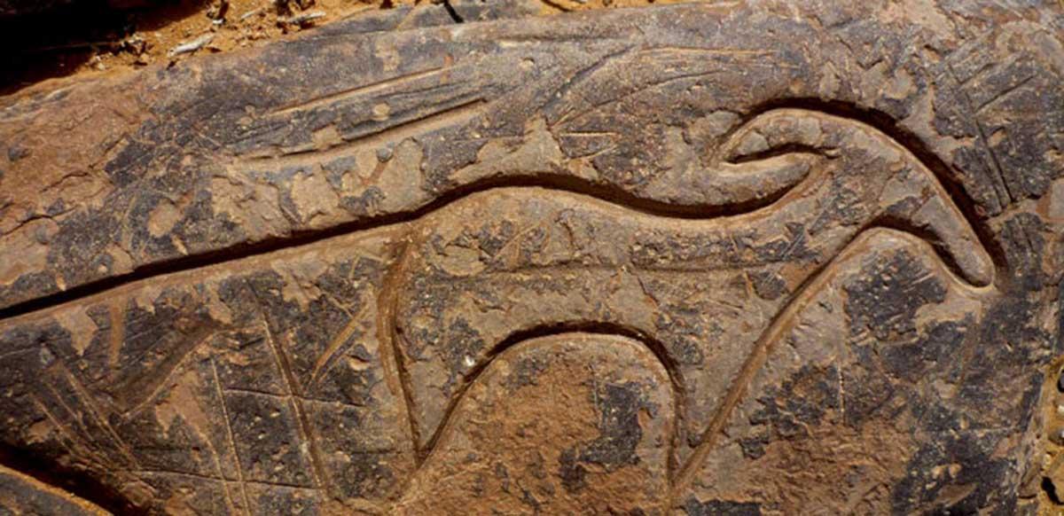 Gravure rupestre du site d'Aït Ouazik