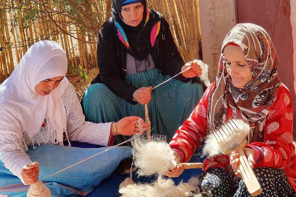 Les femmes de la coopératives Iznaguen de Tazenakhte
