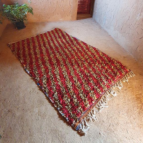 Dar Arbalou - Tapis berbère Boucherouite de Khadija 1