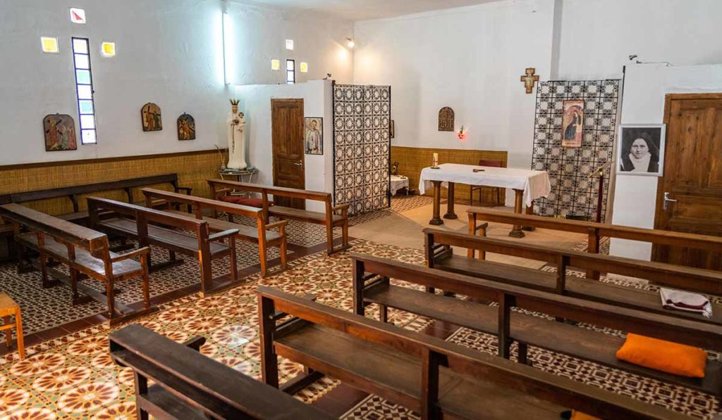 Inside the Sainte Thérèse church - Ouarzazate